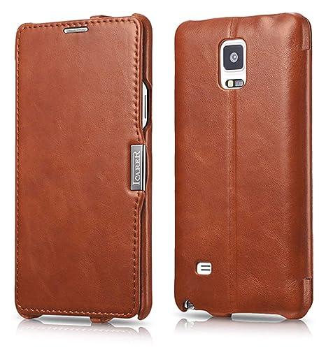 Luxus Tasche für Samsung Galaxy Note 4 / SM-N910 / Case Außenseite aus Echt-Leder / Innenseite aus Textil / Modell: Luxury /