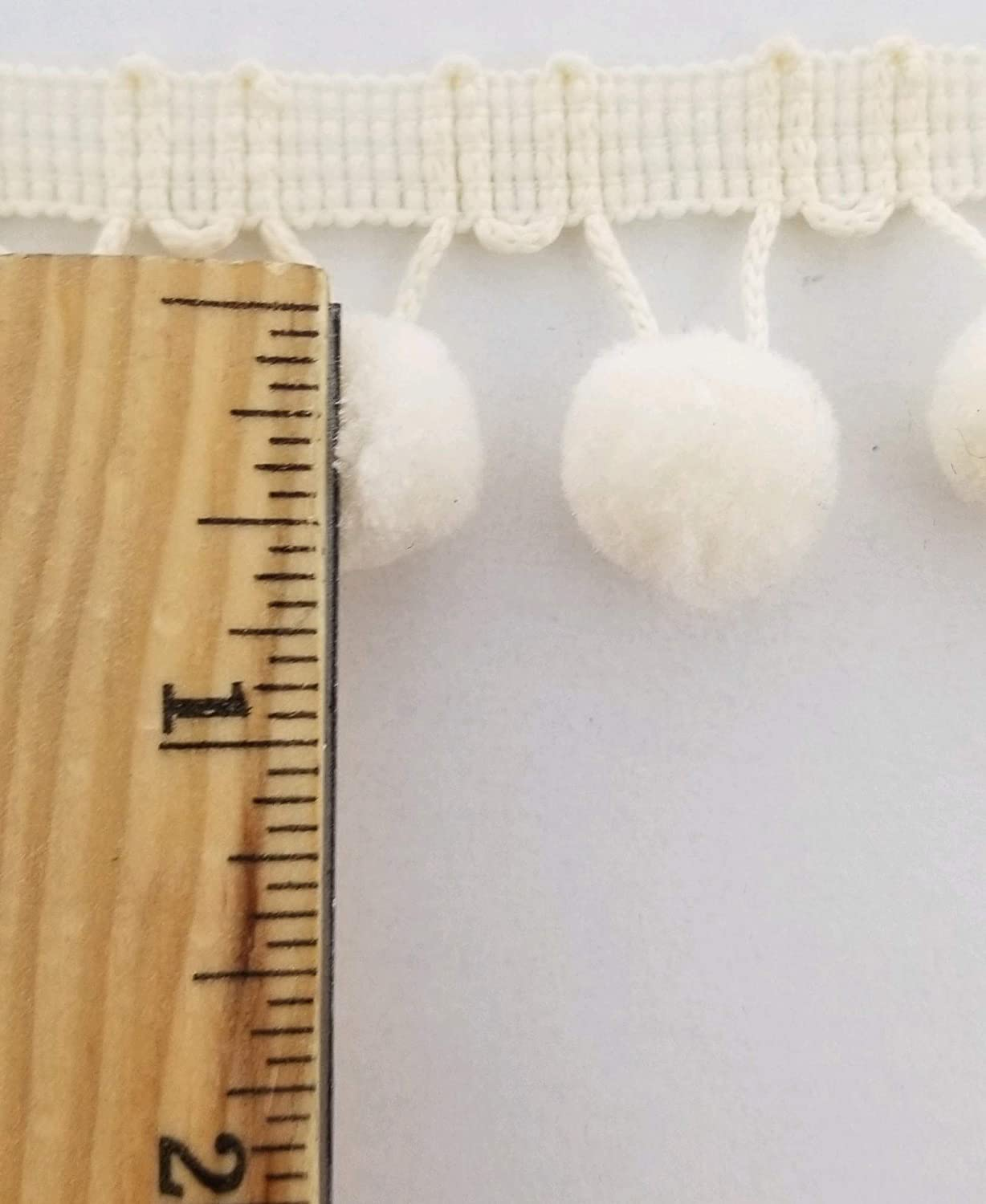 Light Blue 5//8 Pom Pom Polyester Ball Fringe Color Options Made in USA! 12 Continuous Yards