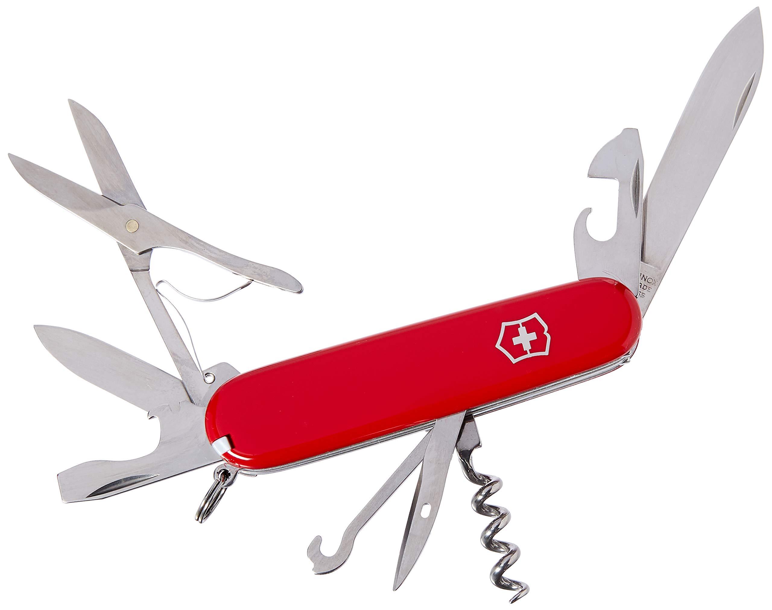 Victorinox Swiss Army Huntsman Pocket Knife, OS Medium Red