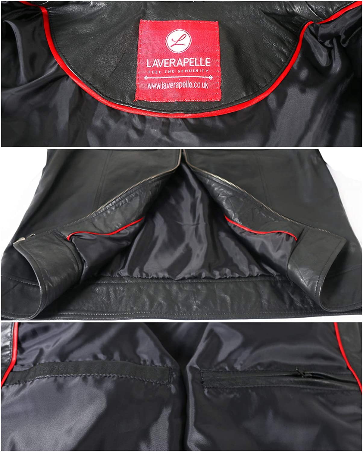 1501165 Black, Racer Jacket Laverapelle Mens Genuine Lambskin Leather Jacket