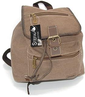85bdf698fa35a STEFANO Canvas Damentasche Vintage Herren Tasche Schultertasche  Umhängetasche Handtasche Rucksack verschiedene Modelle