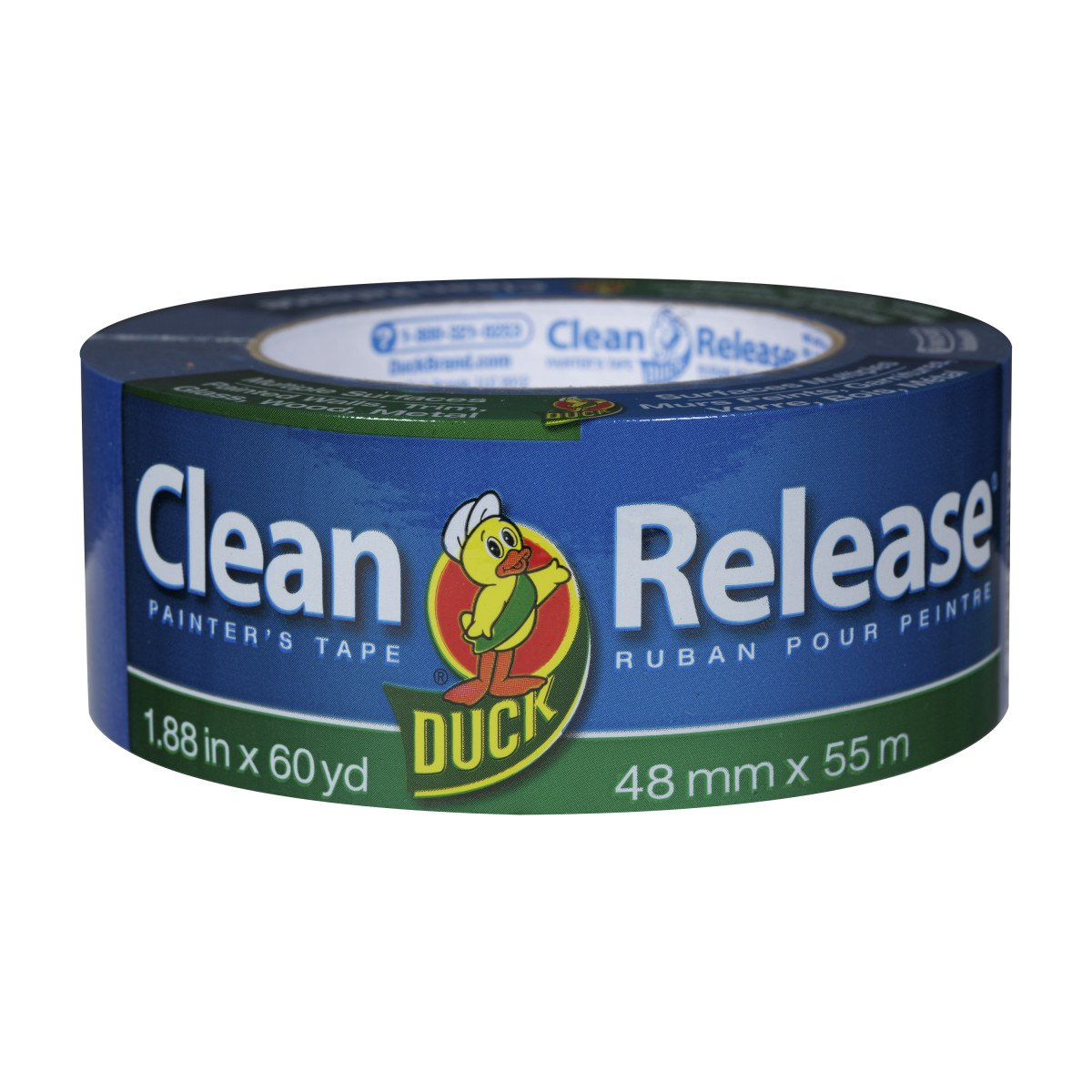 Duck Clean Release Blue Painter's Tape 2-Inch (1.88-Inch x 60-Yard), 12 Rolls, 720 Total Yards, 284372 by Duck (Image #3)