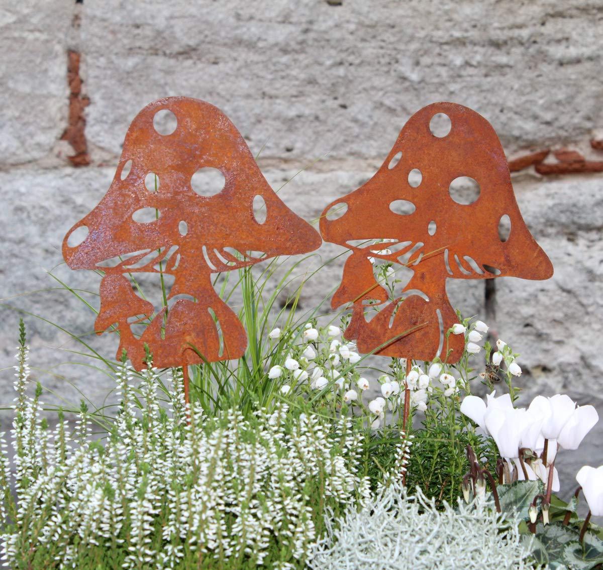 Eichh/örnchen Dorn LB H/&F Lilienburg Roststecker Gartenstecker Rost Metall