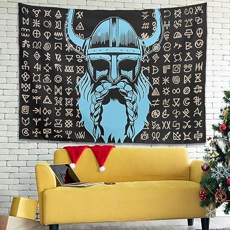 Tatuaje tradicional azul nórdico vikingo guerrero casco barba ...
