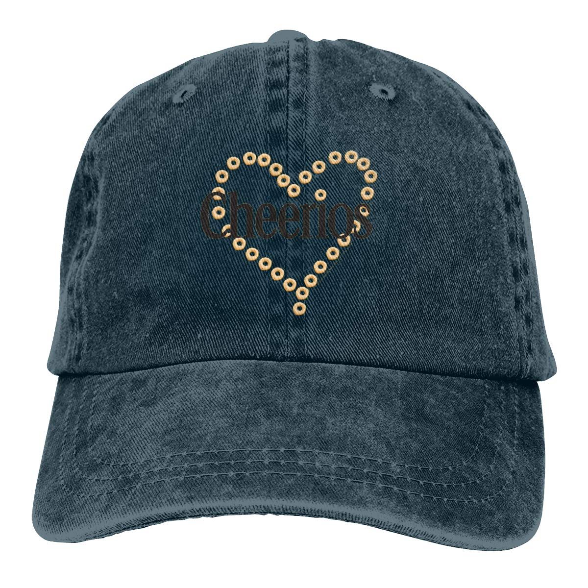 Sajfirlug Cheerios Heart Fashion Adjustable Cowboy Cap Baseball Cap for Women and Men