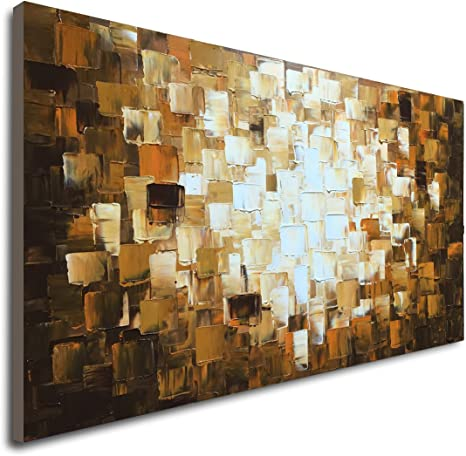 Amazon Com Textured Abstract Oil Paintings On Canvas Modern Art Decor For Wall Paintings