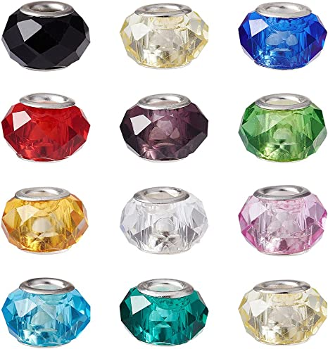FAST FREE P/&P GORGEOUS CRYSTAL RONDELLE SPACER BEADS MULTI COLOURED RANDOM MIX