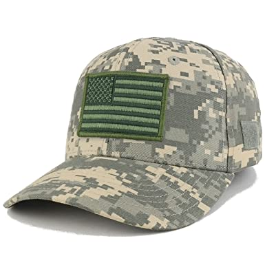 USA Flag OLIVE 2 Embroidered Tactical Patch Adjustable Structured Operator  Cap - ACU 973744b6477