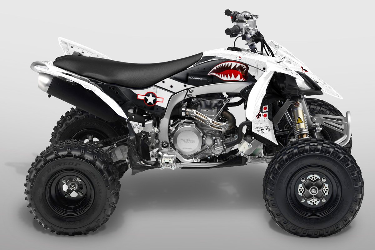 Yamaha YFZ 450R Graphics Silver /& Black War Machine fits 2014 /& Newer
