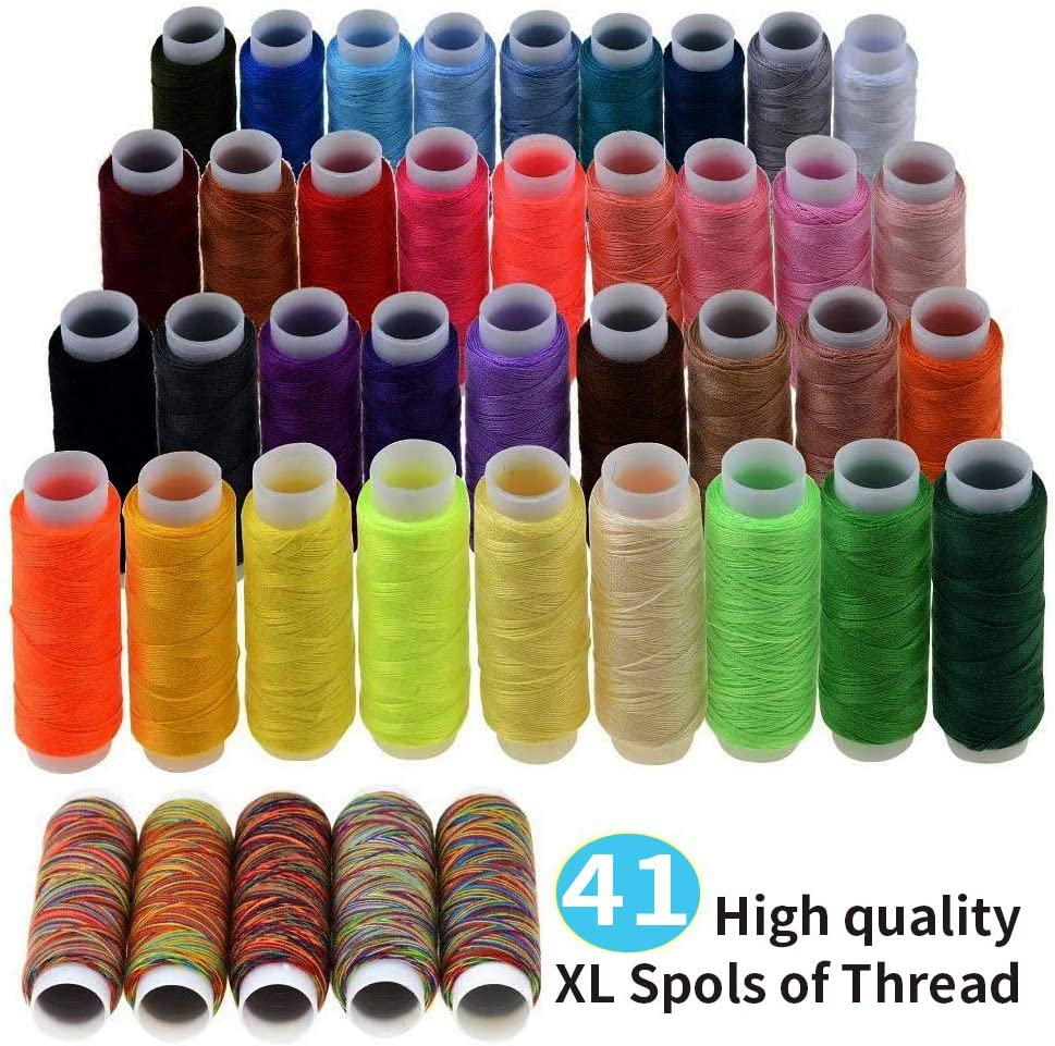 travelers,Emergency clothing repair,embroidery, Meilo Sewing kit,DIY advanced sewing supplies portable mini sewing kit for beginners 78Pcs