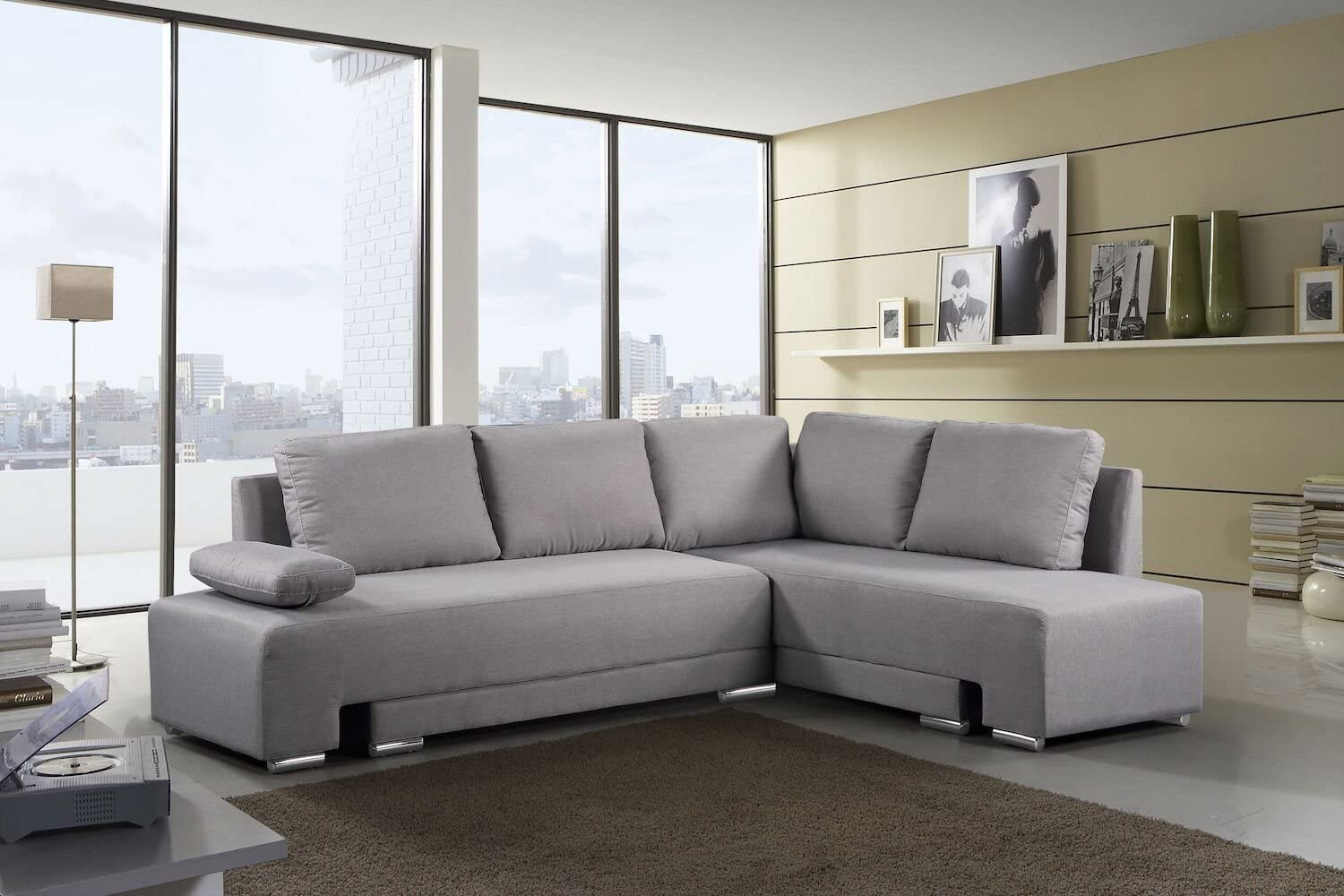 Amazon.com: Velago Villars Convertible Sectional Sleeper ...