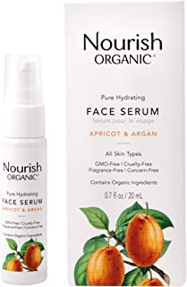 product image for Nourish Organic   Pure Hydrating Face Serum - Apricot & Argan   GMO-Free, Cruelty Free, 100% Vegan (0.7oz)