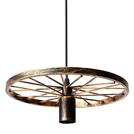 Loft Industrial Vintage Retro de luz colgantes Rueda de ...