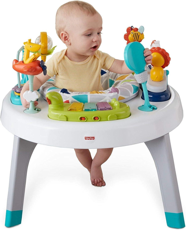 Fisher-Price Centro de actividades 2 en 1, mesa de actividades para niños y bebés +3m (Mattel FVD25): Amazon.es: Juguetes y juegos
