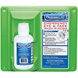 "PhysiciansCare 24-000 Wall Mountable Eye Flush Station with Single 16 oz Bottle, 11-3/4"" L x 4"" W x 13-3/4"" H"