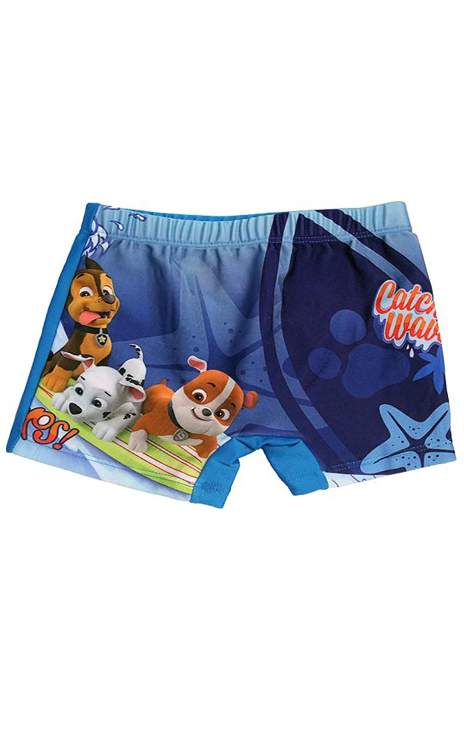 Boys Official Paw Patrol Catch the Waves Swimwear Swimming Shorts Age 3 to 8 Years
