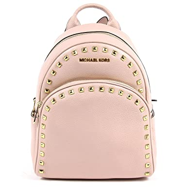 7f721aced7fe Michael Michael Kors Abbey Medium Frame Out Studded Leather Backpack  Blossom: Amazon.co.uk: Clothing