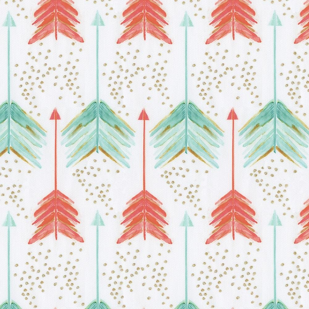 Carousel Designs Coral and Teal Arrows Cradle Sheet by Carousel Designs