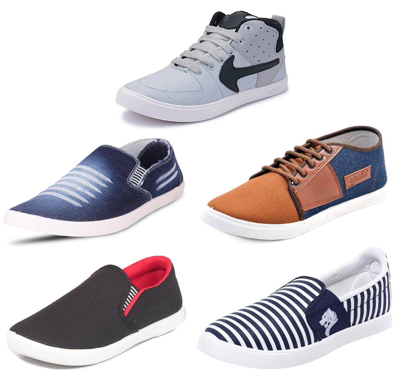 SCATCHITE Men's Combo Pack of 5 Footwear Loafers & Casual Shoes - Multicolour product image