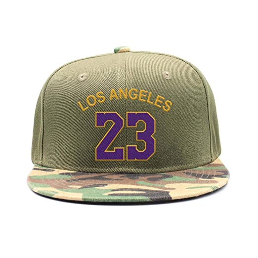 25b0413b9a1 Los Angeles Player LAbron  23 Snapback Cap Custom Embroidery Baseball Hat