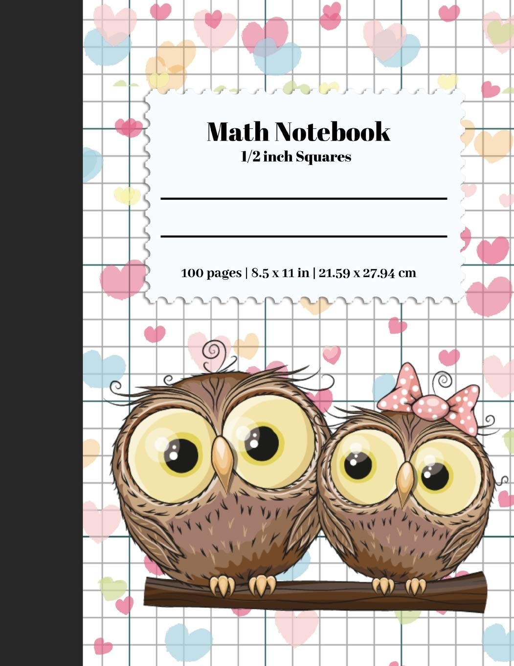Math Notebook 1/2 Inch Squares: Lined Graph Paper Composition ...