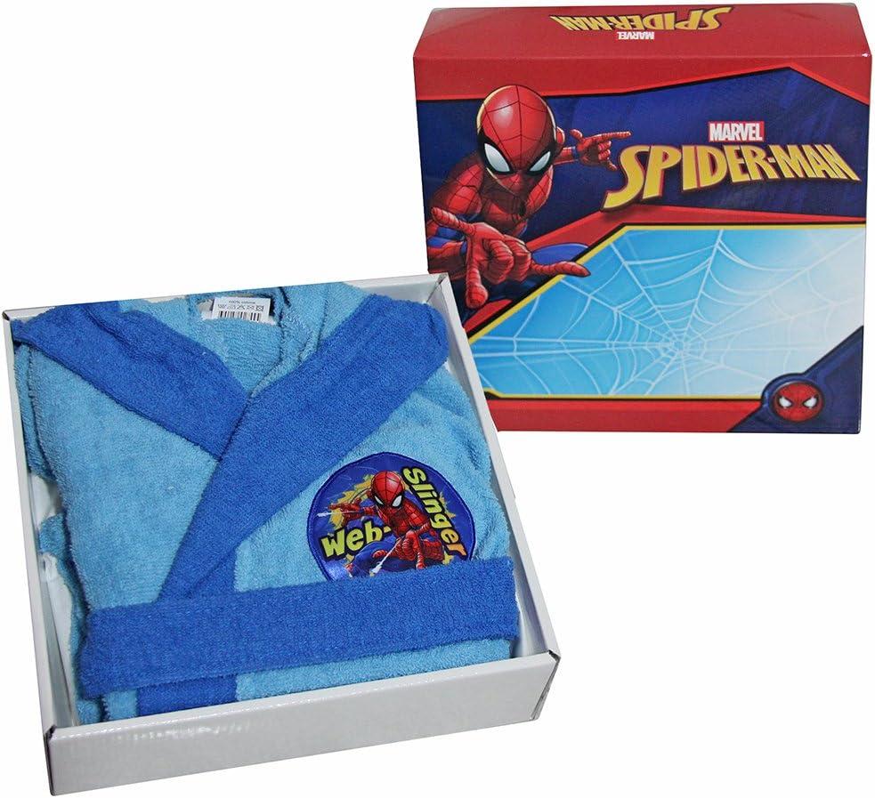 ACCAPPATOIO CON CAPPUCCIO ORIGINALE SPIDERMAN SPIDER MAN by Marvel ANNI 2 3 4 5 6 7 8 9 100/% MICRO SPUGNA PURO COTONE BIMBO BAMBINO ANNI 2//3