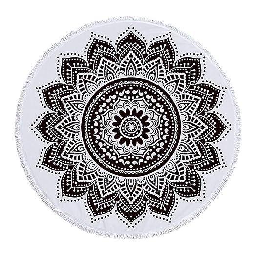MWPO Colchonetas de Yoga Toallas de Playa 150cm Flores ...