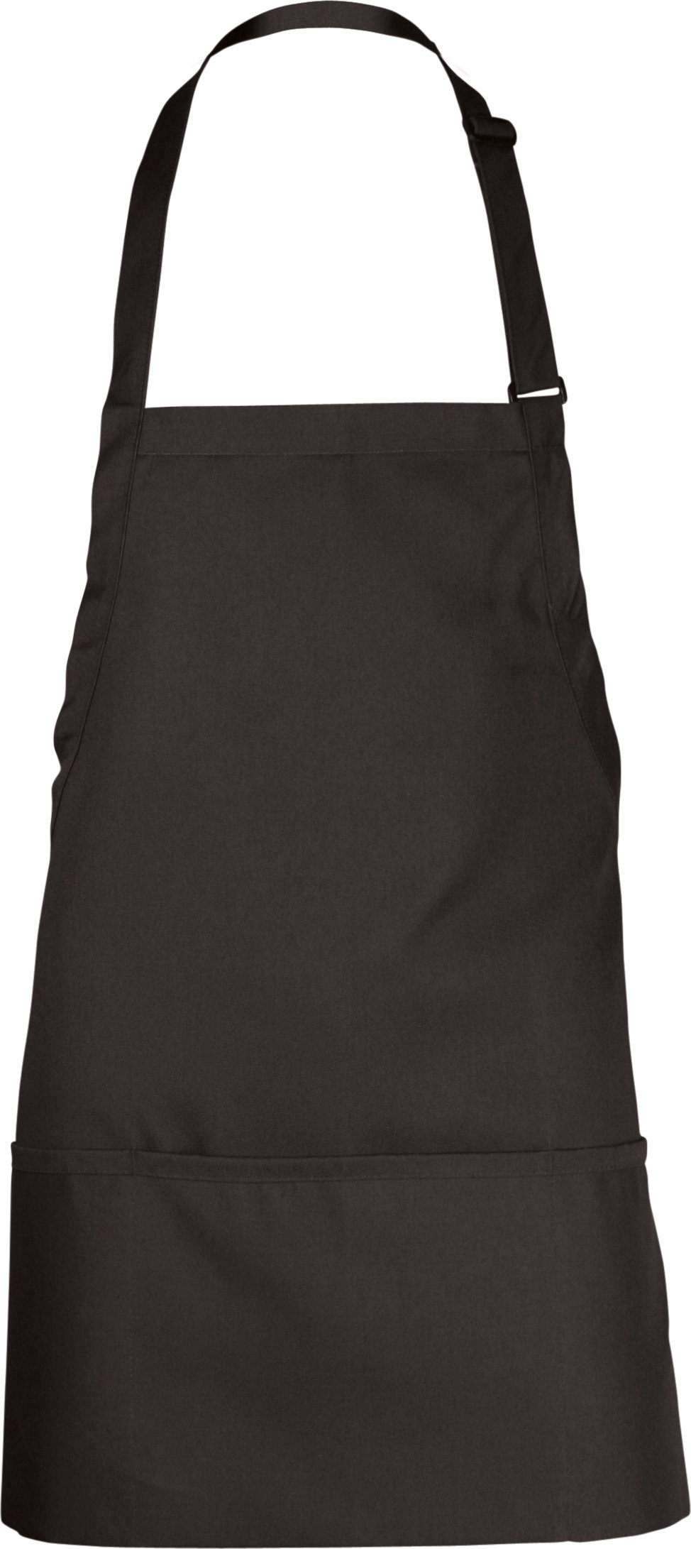 Chef Works Men's Three Pocket Apron, Black, 24-Inch Length by 28-Inch Width