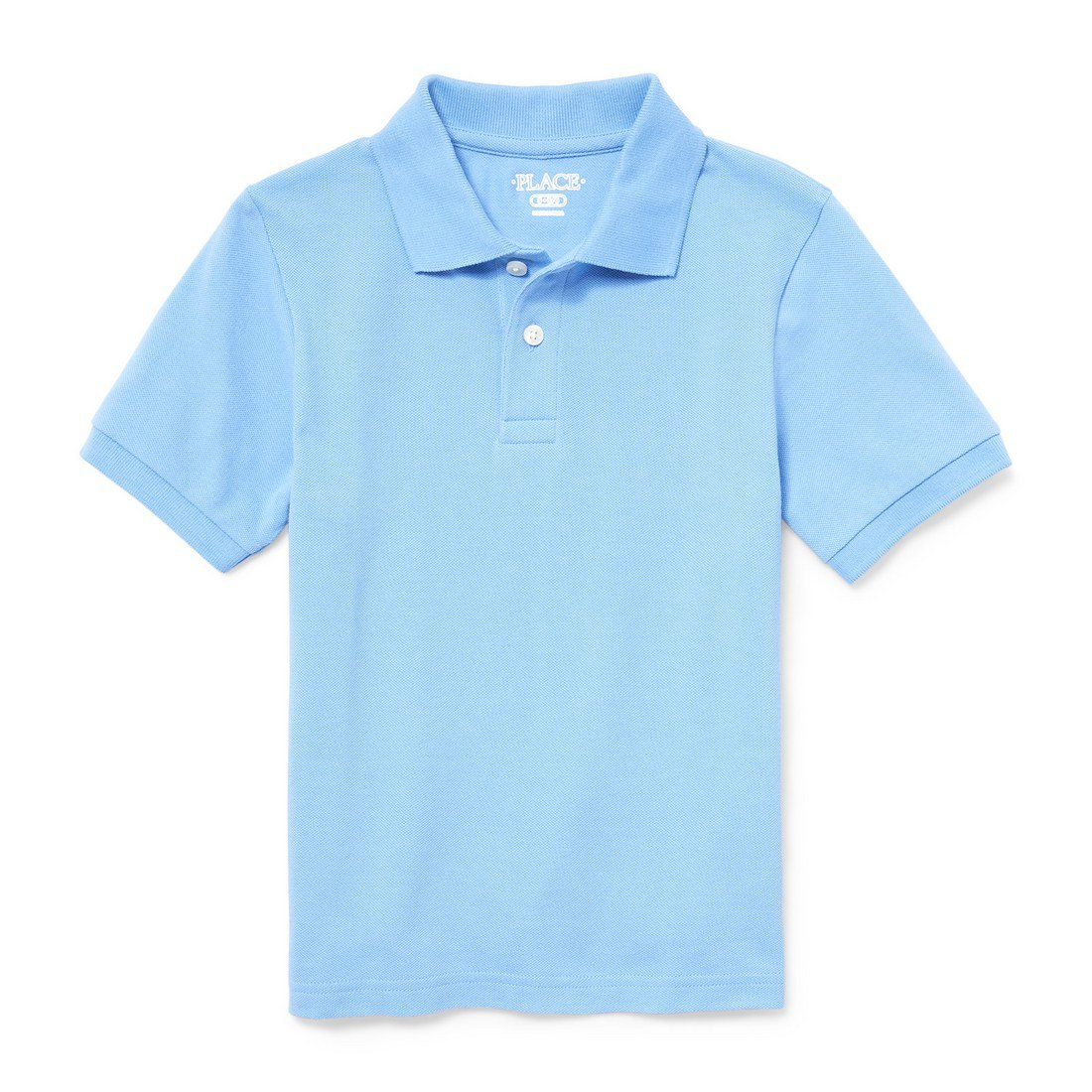 The Children's Place Big Boys' Short Sleeve Uniform Polo, Seaside Sail 2428, M (7/8)