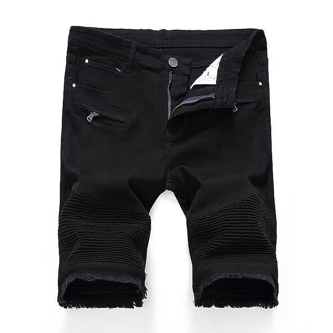 Amazon.com: LERUCCI - Pantalones cortos de mezclilla para ...