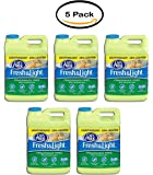 PACK OF 5 - Cat's Pride Fresh and Light Premium Clumping Fragrance Free Scoopable Cat Litter Jug, 15-Pound