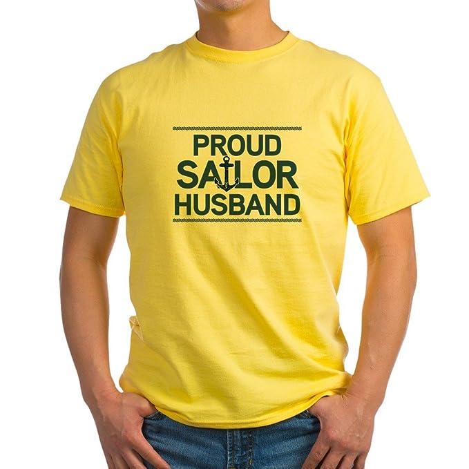 9ee99342b Amazon.com: CafePress Proud Sailor Husband 100% Cotton T-Shirt ...
