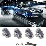 Car Tire Wheel Lights,4pcs Solar Car Wheel Tire Air Valve Cap Light With Motion Sensors Colorful LED Tire Light Gas…