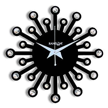 Buy Random Clocks Jewel Round Wood Wall Clock 30 cm x 30 cm x 5