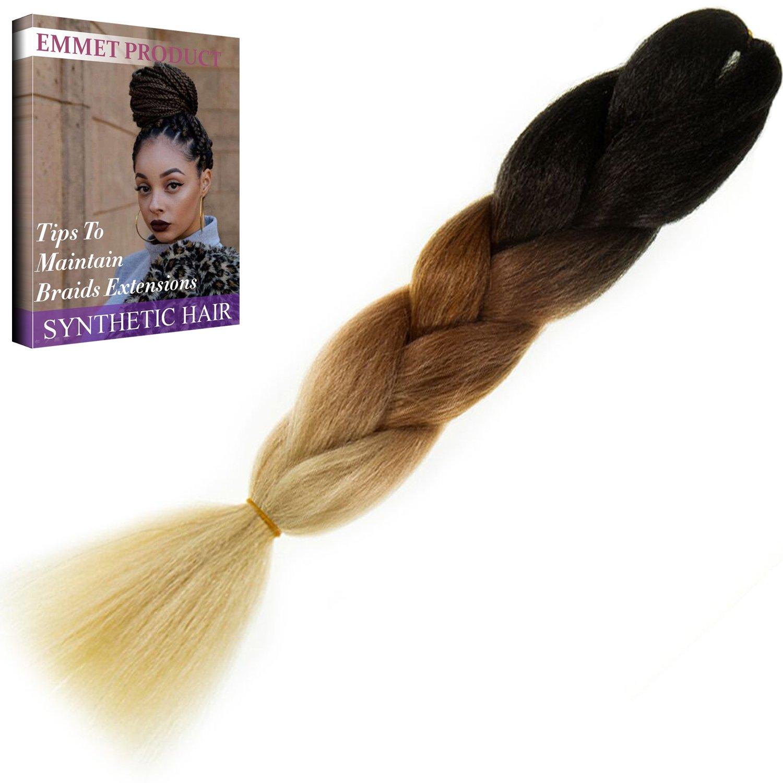 amazoncom emmet jumbo braids 60 colors kanekalon