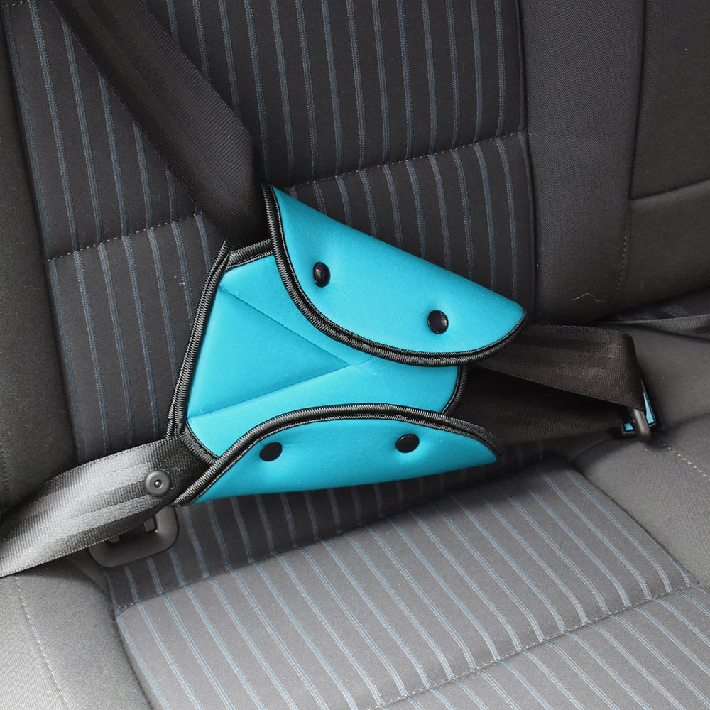 Seat Belt Pillow and Adjuster for Kids Travel,Soft Neck Support Headrest Seatbelt Pillow Cover with Clip /& Seatbelt Adjuster for Child,Car Seat Strap Protector Cushion Pads for Baby Short People Adult