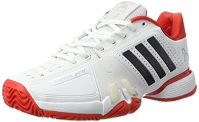 adidas Performance Mens Novak Pro Sports Tennis Trainers Shoes - White - 6.5