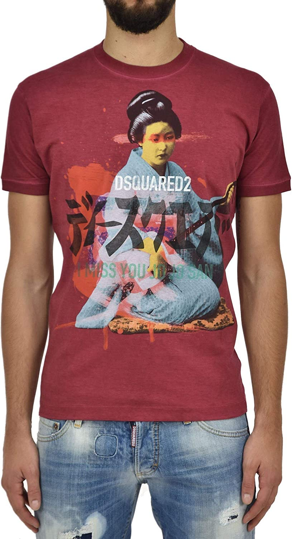 Dsquared2 T-Shirt Geisha Hombre - Talla: L - Color: Rojo - New: Amazon.es: Ropa y accesorios