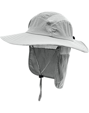18c1b21f Home Prefer Mens UPF 50+ Sun Protection Cap Wide Brim Fishing Hat with Neck  Flap