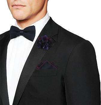 Segbeauty® Pre-atado Pajaritas Azul Marino Corbata de Moño Set con ...