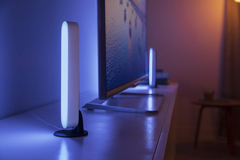 requiere conexi/ón a puente Hue 2 unidades Philips Hue Play Barra de luz regulable compatible con  Alexa blanca Apple HomeKit y Google Home incluye alimentador luz blanca y de colores