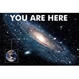 You are Here Galaxy Retro Solar System Human Earth Location in Outer Space Universe Black Light Reactive Constellation Glow W