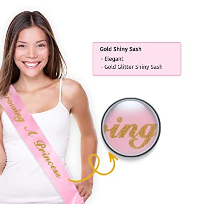 Mum to be sash Baby Shower Rose Gold Glitter with hot pink lettering