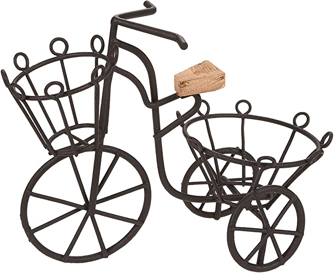 Soporte para plantas, de hierro, con diseño de bicicleta, para ...