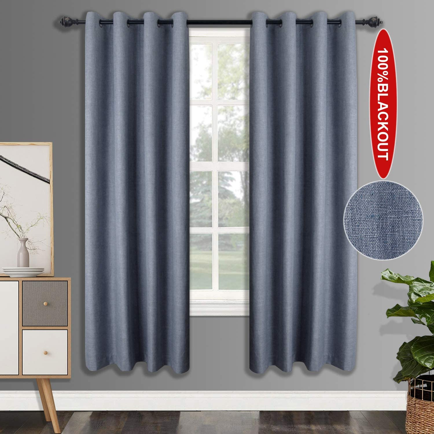 Free Amazon Promo Code 2020 for Blackout Linen Curtains with 4 Pass Coating