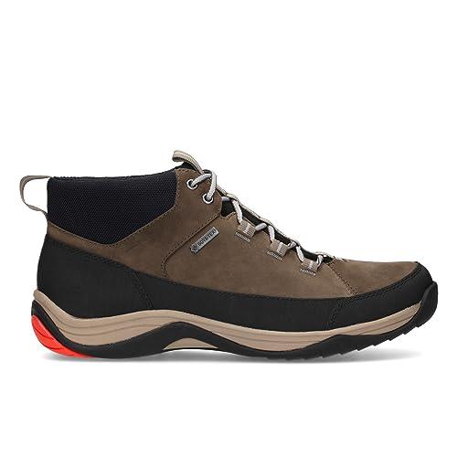 Clarks Casual Hombre Botas Baystone Hi Gore-Tex® En Nobuk Marrón Tamaño 47: Amazon.es: Zapatos y complementos