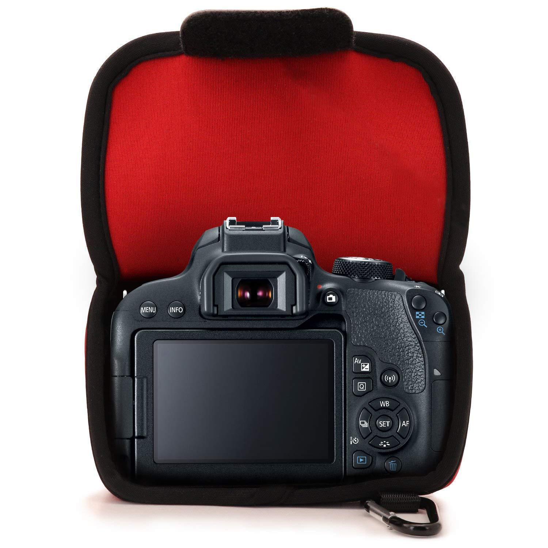 9000D 800D 18-135 mm 77D MegaGear MG1194 Canon EOS 200D Nero 2000D Ultra Light Custodia in Neoprene per Fotocamera