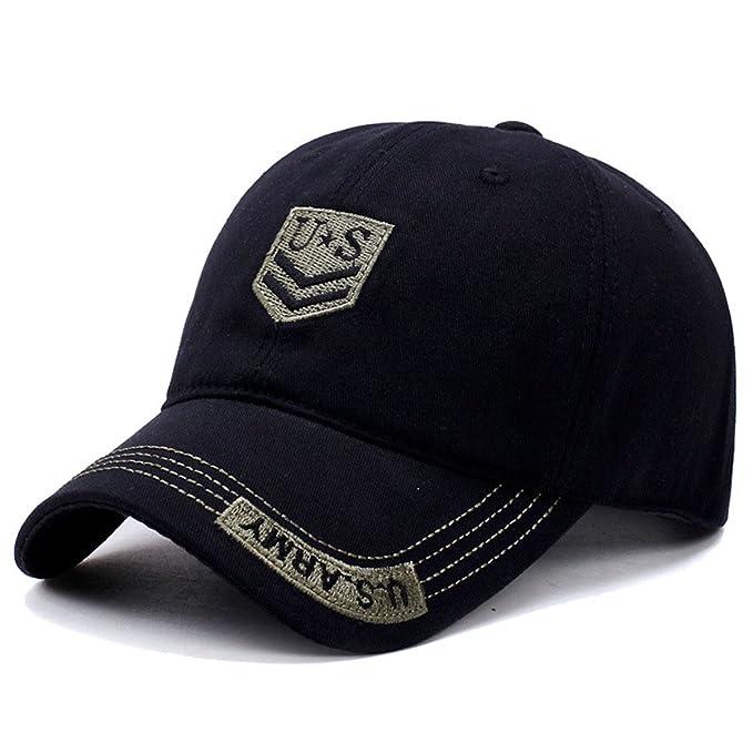 DaBag Cappellino da Baseball Sole Uomo Cappelli Militare Sportivo Corsa  Berretto Casual Hip Hop Danza Cap f53ba9eda8a3