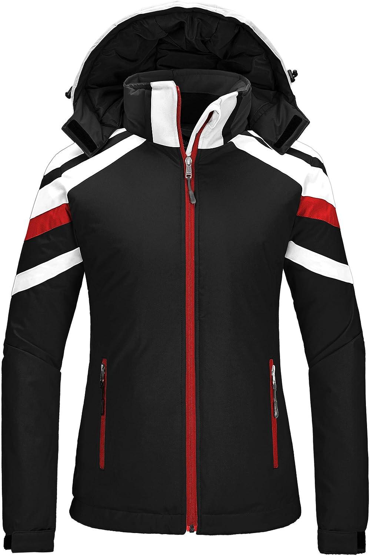 Wantdo Women's Waterproof Ski Jacket Warm Winter Snow Coat Mountaineering Windbreaker with Hood