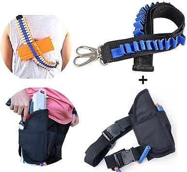 Kids Tactical Waist Bag and Shoulder Strap Kit for Nerf Guns